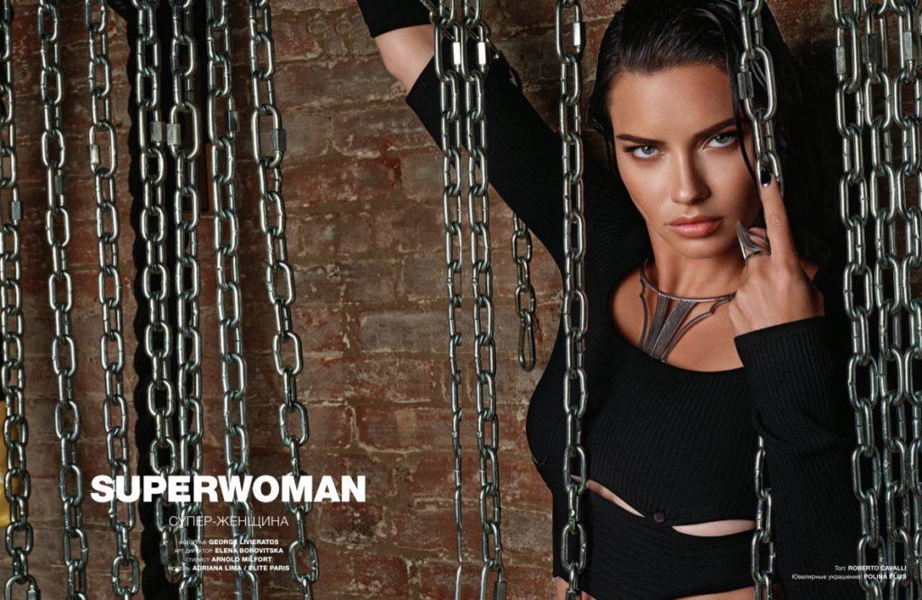 Адриана Лима модель. Публикация в журнале Numero.