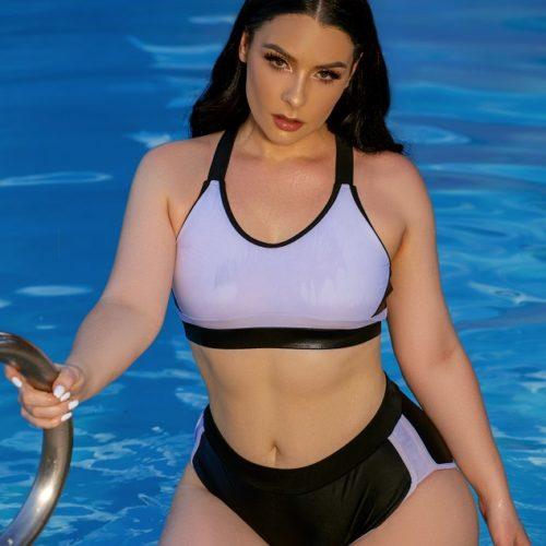 Модель Виктория Кей или пышный фитнес плюс сайз