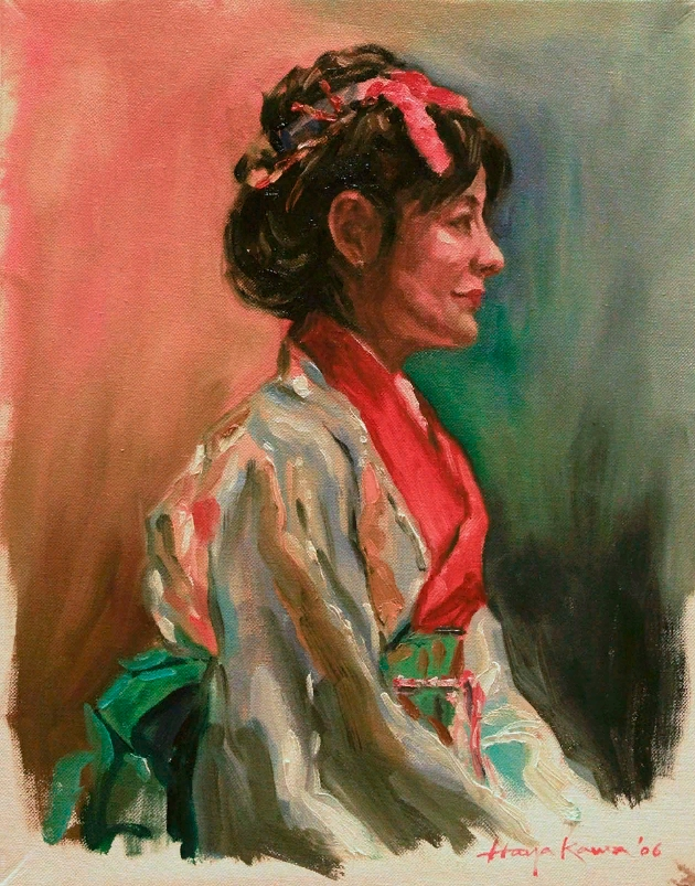 Картина. Японский художник Хироси Хаякава