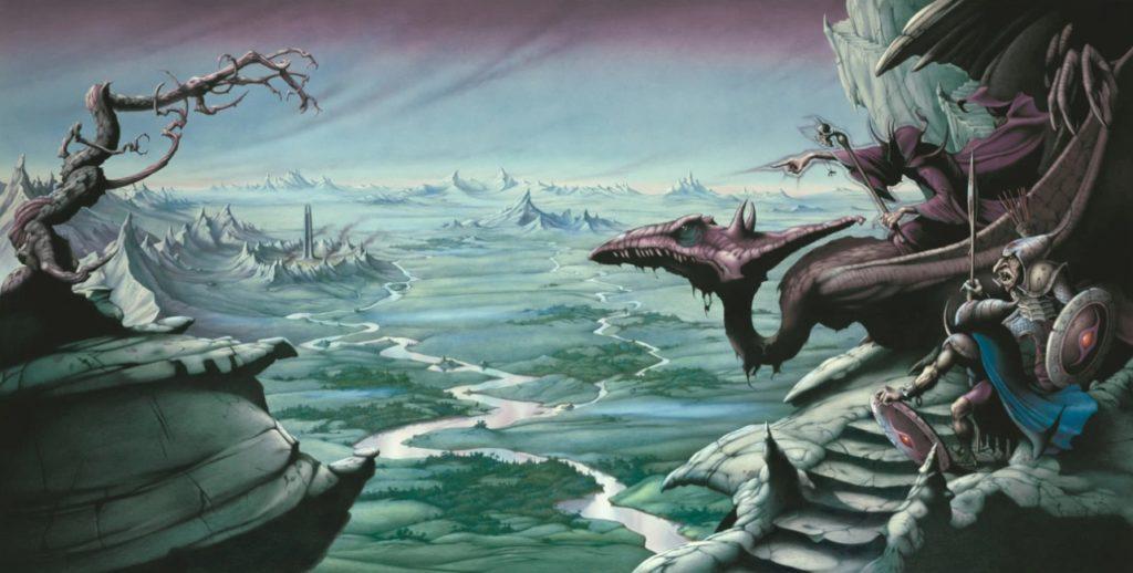 Картины в стиле фэнтези. Rodney Matthews. Фантастические драконы.