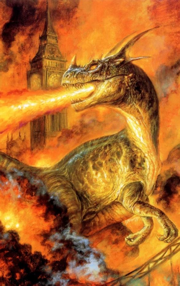 Картины Bob Eggleton. Драгон изрыгающий пламя.