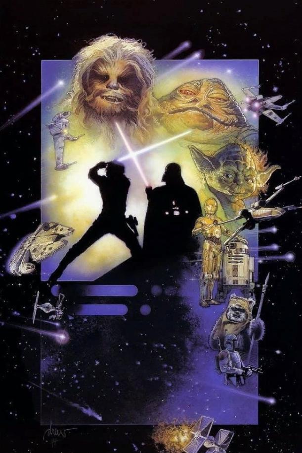 художник-иллюстратор Дрю Струзан. Постер к Звездным войнам.