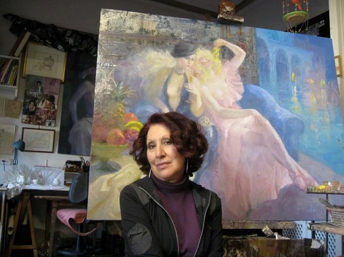 Художница Эмилия Кастанеда Мартинес.