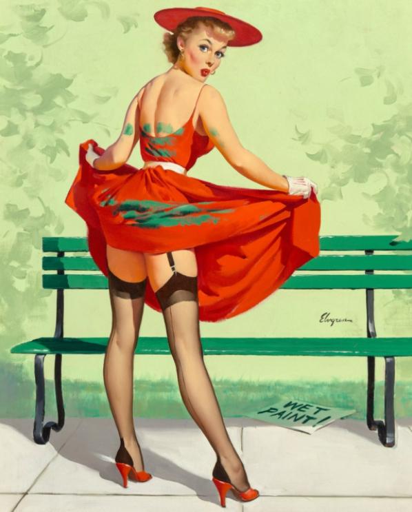 Художник Джил Элвгрен. Пин-ап. Фотомодели середины 50-х годов на плакате.
