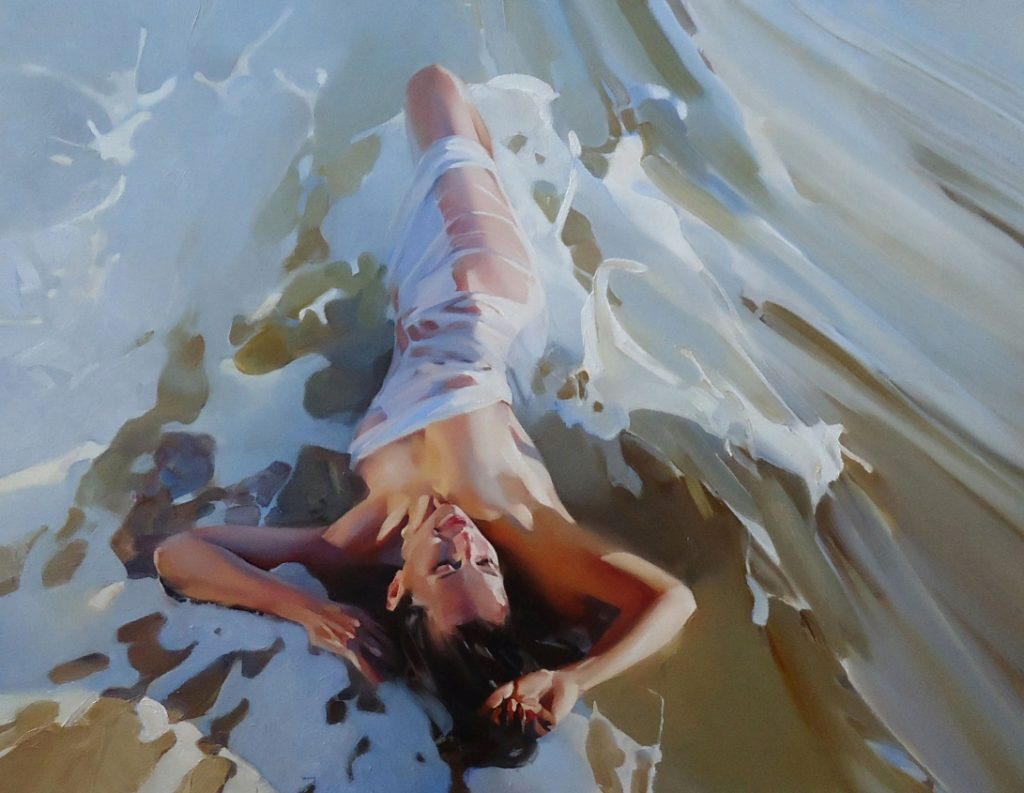 Картины художника Алексея Чернигина в стиле Ню