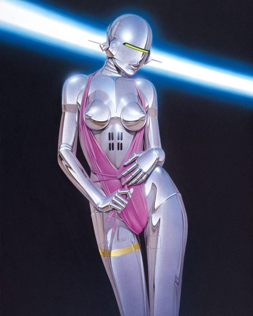 Hajime Sorayama. Картины. Роботы.