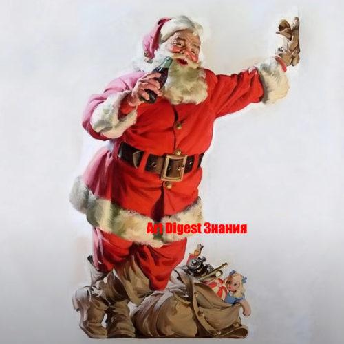 Художник Хэддон Сандблом: Санта-Клаус в стиле пин-ап жанра