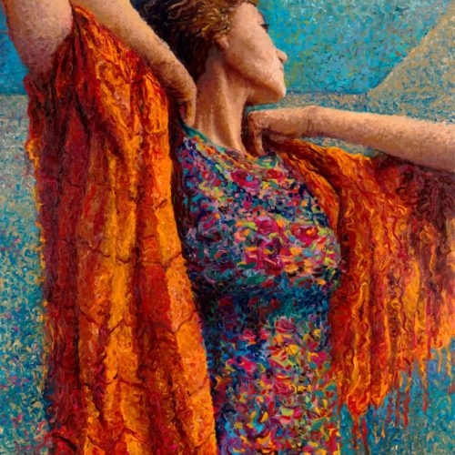 Художница Айрис Скотт: искусство рисования пальцами