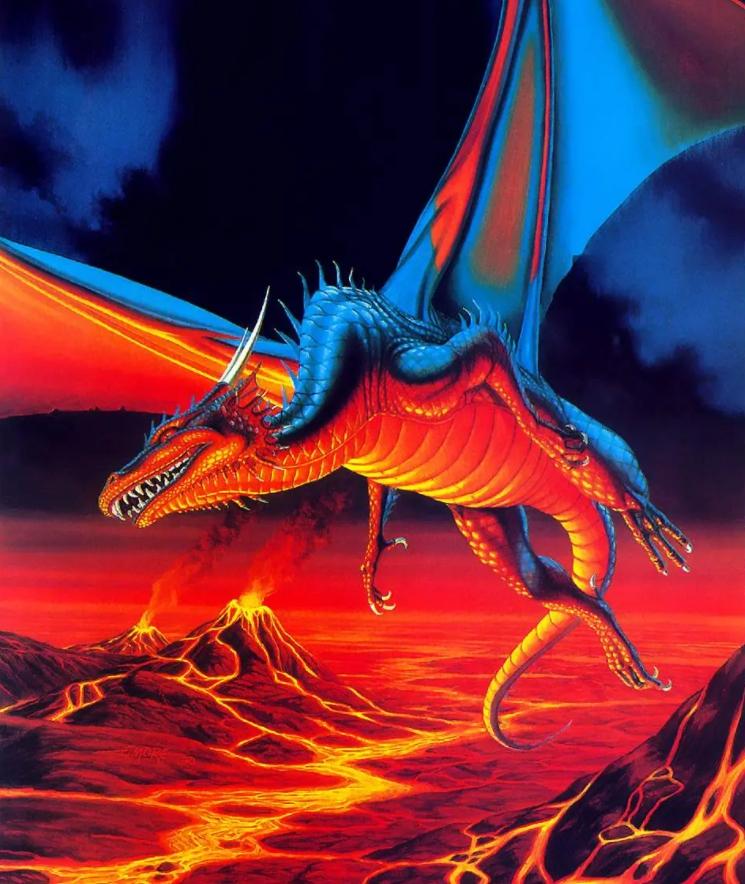 Иллюстратор фэнтези Larry Elmore. Дракон.