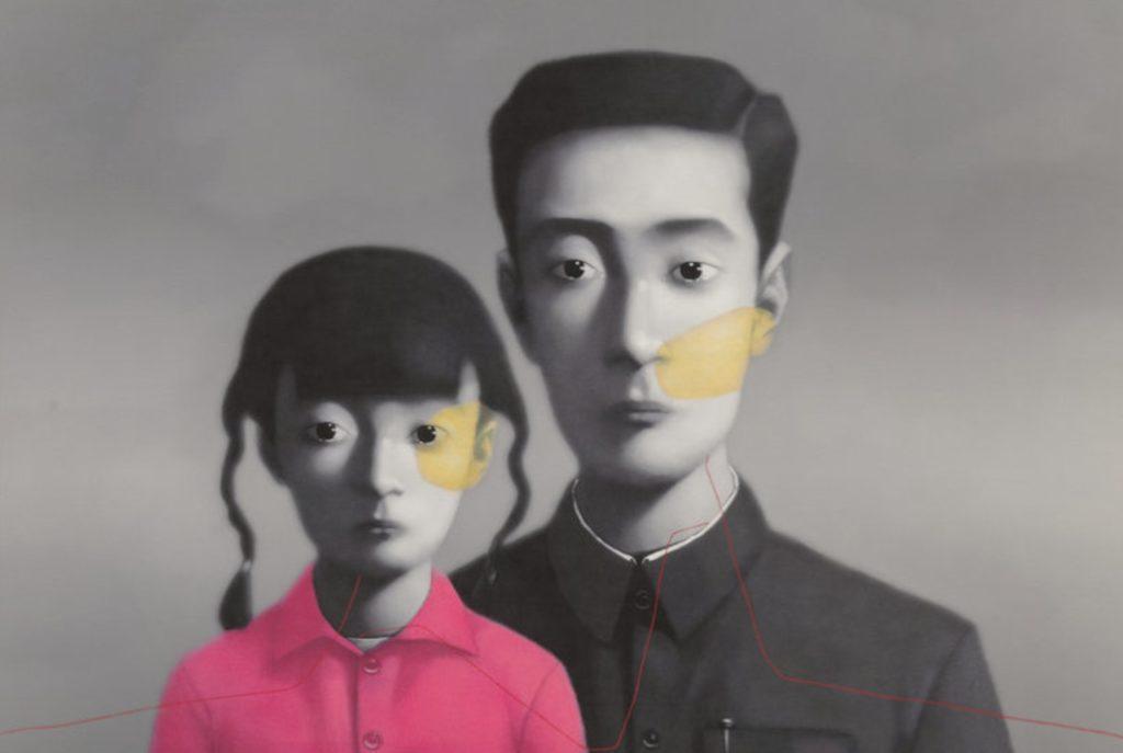 Китайский художник Чжан Сяоган. Картины сюрреализма