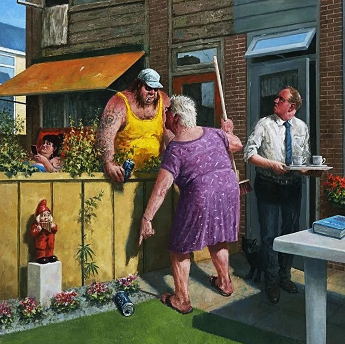 Смешные картины художников. Мариус Ван Доккум. Юмор в живописи.