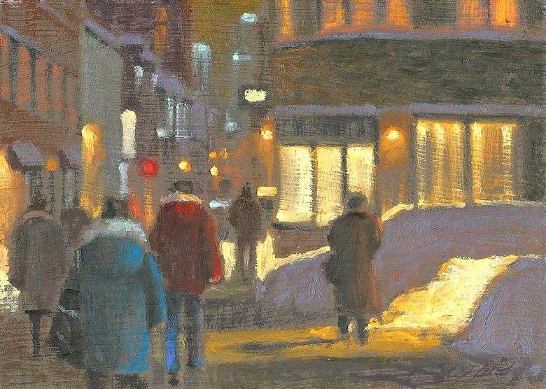 Картины Richard Savoie. Снежный город