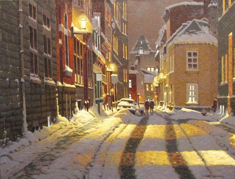Канадский художник Ричард Савойя. Картины, пейзажи, зима