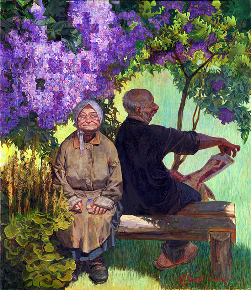 Смешные картины художников. Картина Чумакова-Орлеанского