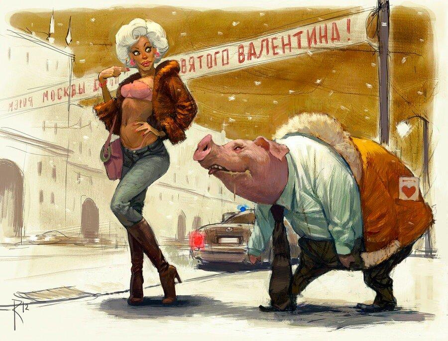 Владимир Казак, картины, С днем святого валентина
