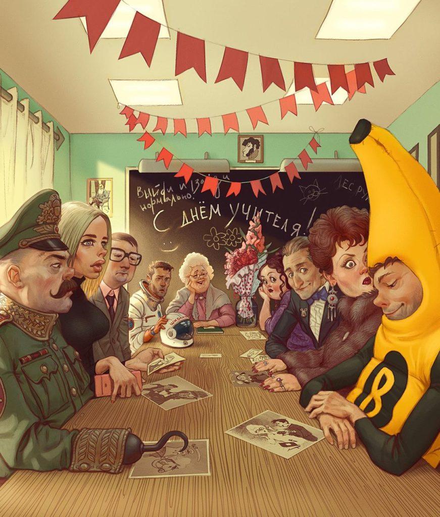 Смешные картины художников. Владимир Казак, юмор в искусстве