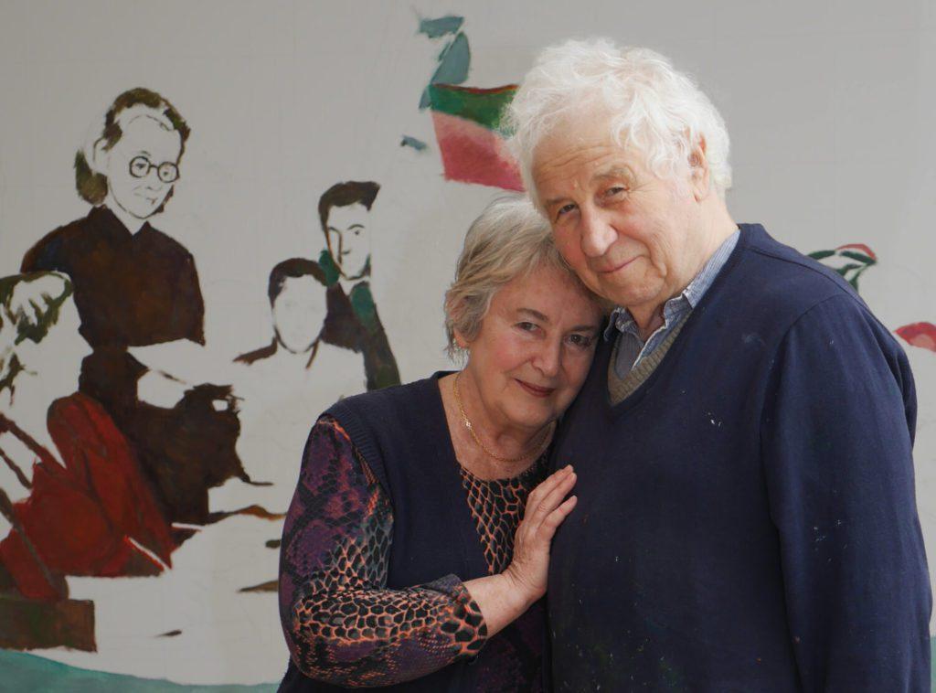 Художник Илья Кабаков и его жена