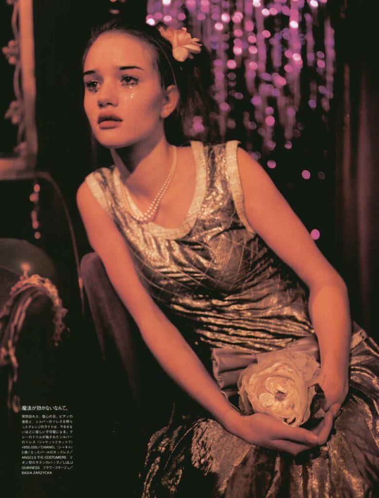 Роузи Хантингтон-Уайтли в молодости. Первая фотосессия.
