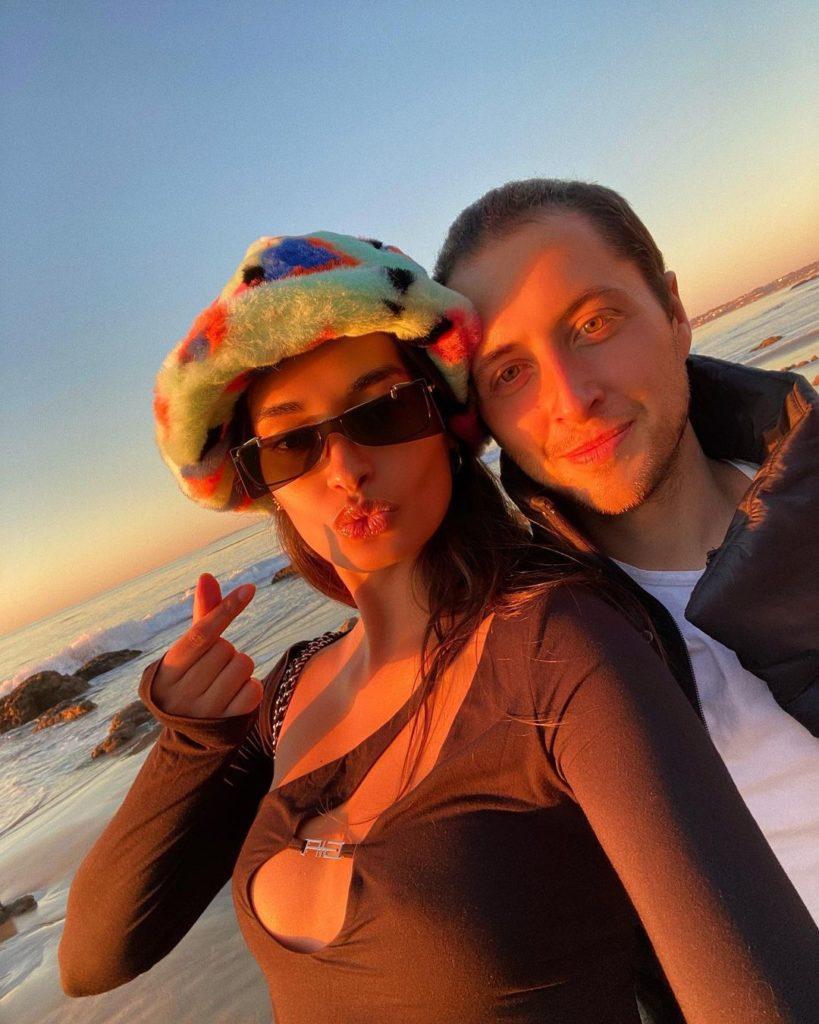 Бразильская фотомодель Gizele Oliveira и ее бойфренд