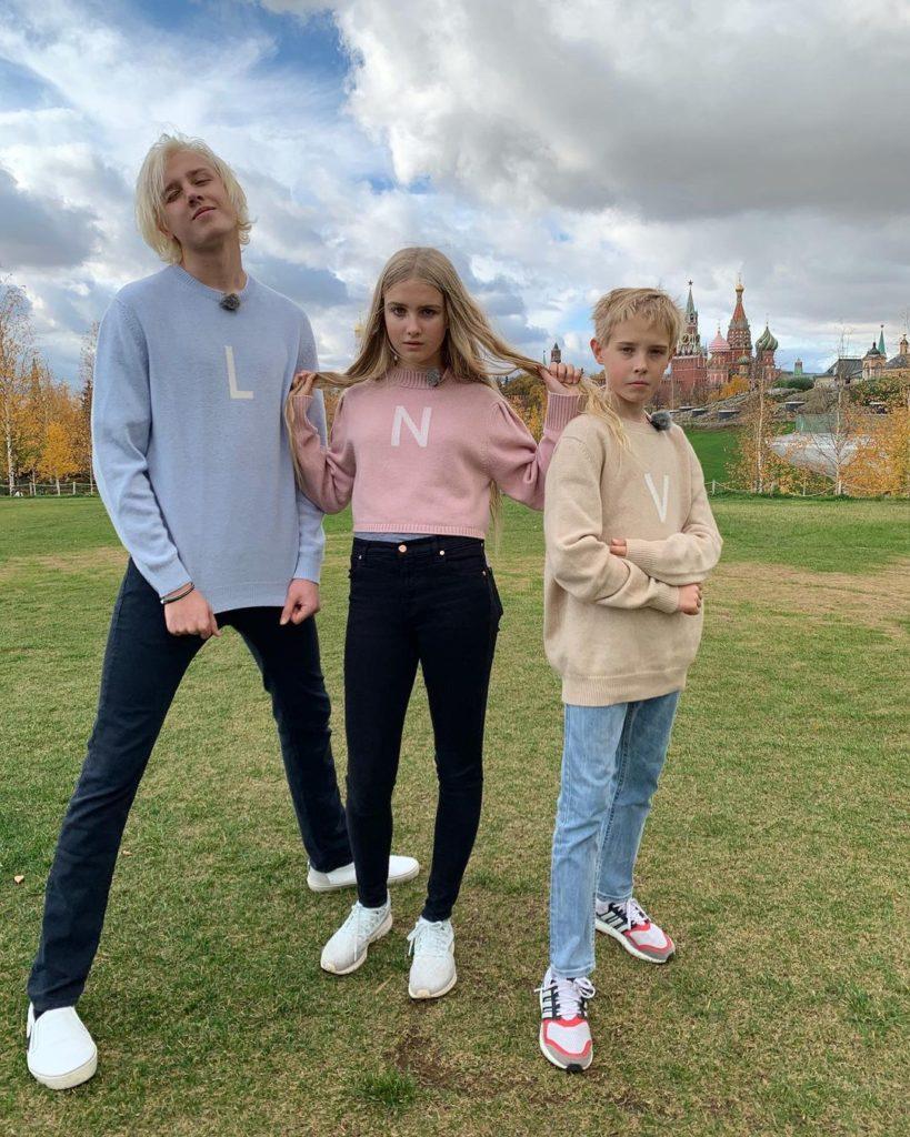 Старшие дети Натальи Водяновой.