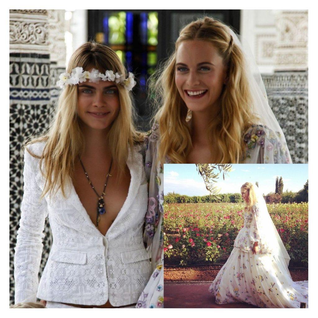 Фотомодель Poppy Delevingne. Свадьба с Джеймсом Куком в Марокко.