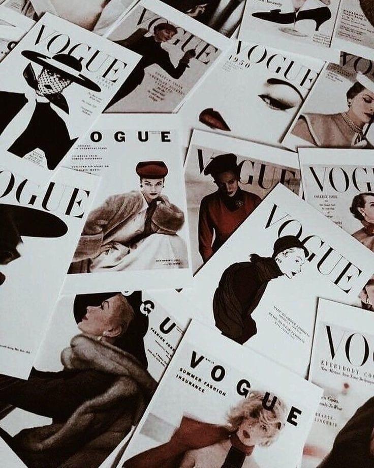 Журнал Vogue. Середина 20-го века.