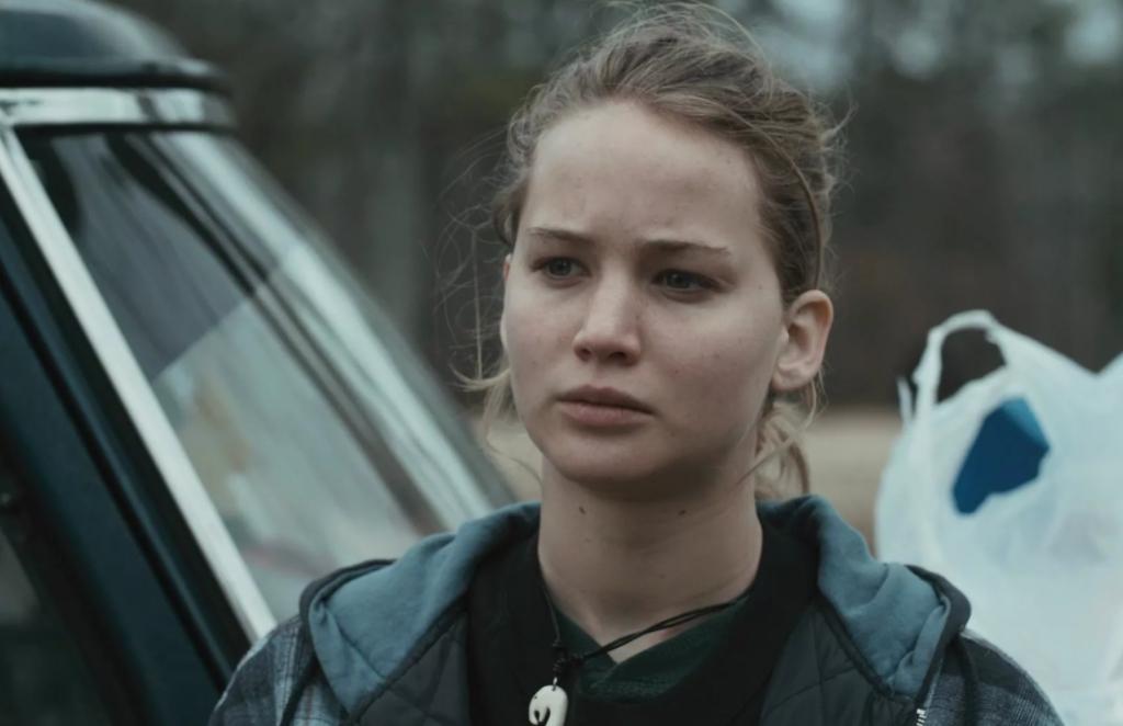 Актриса Дженнифер Лоуренс в фильме Зимняя кость.