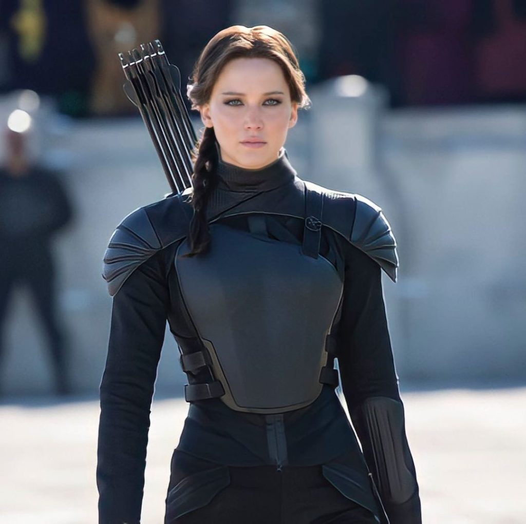 Актриса Дженнифер Лоуренс в последней части Голодных Игр.