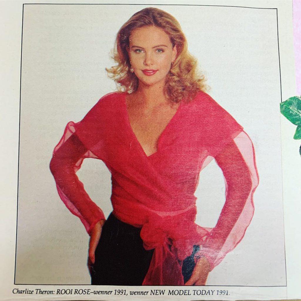 Актриса Шарлиз Терон в молодости.
