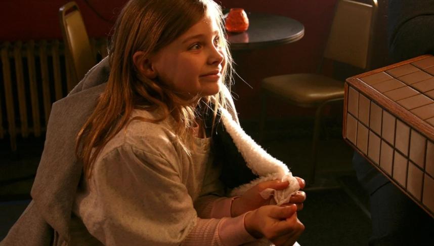актриса Хлоя Грейс Морец в детстве.
