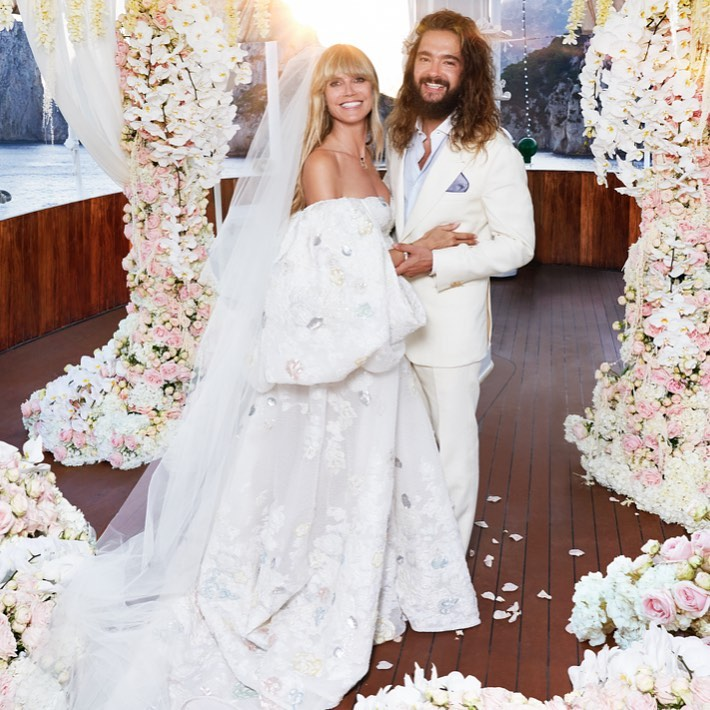 Модель и актриса Хайди Клум и свадьба.