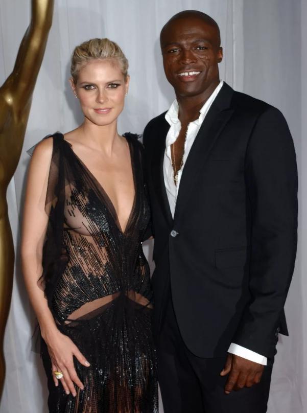 Модель и актриса Хайди Клум  и ее прошлый муж, певец Сил.