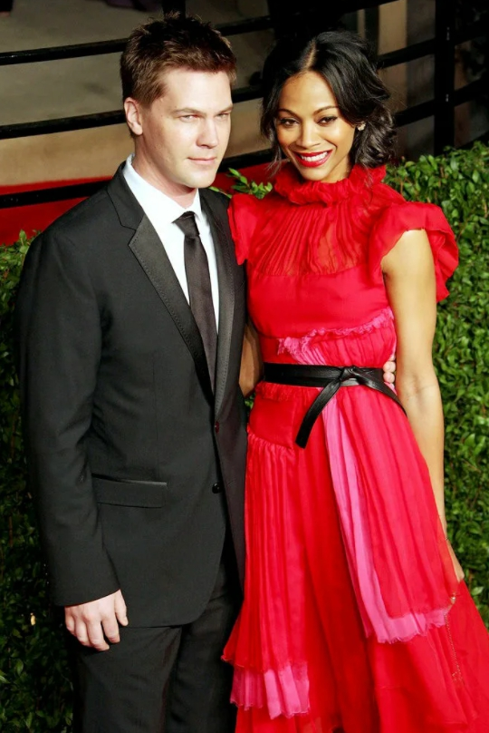 Актриса Зои Салдана и ее парень.