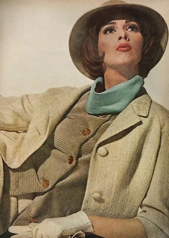 Супермодели мира. модель Вильгельмина Купер в шляпке.