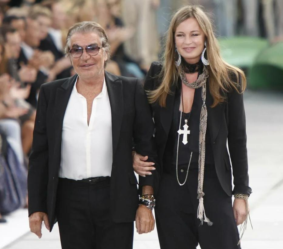 модельер Роберто Кавалли и жена Ева.